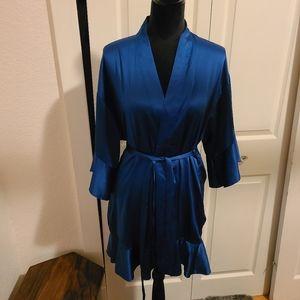 Victoria's Secret blue silky robe